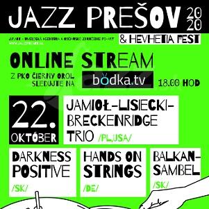 29. ročník festivalu Jazz Prešov 2020 !!!